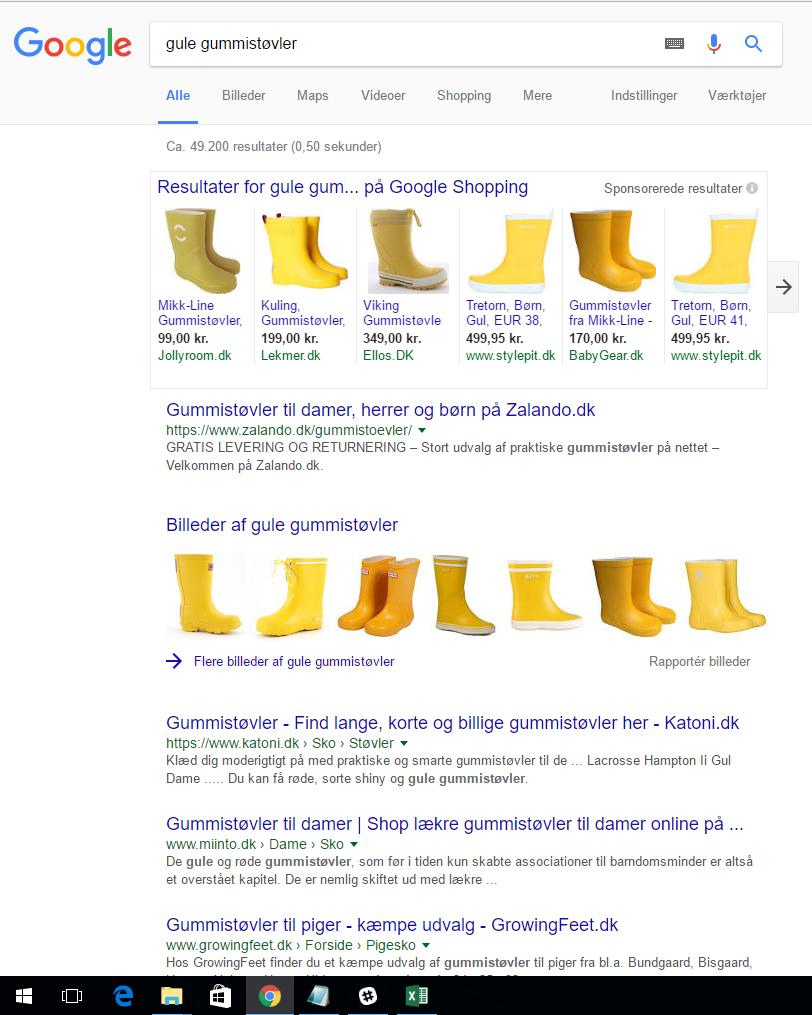 gule gummistøvler webshop
