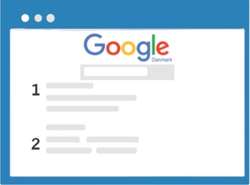 SEO-placering som nummer 1 på Google
