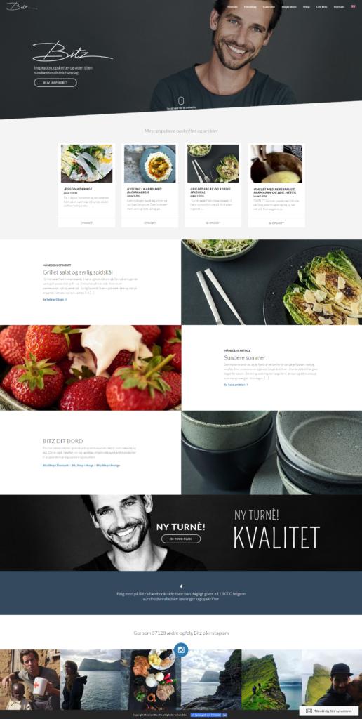 Christan Bitz hjemmeside med luft omkring elementerne
