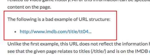 Dette er et eksempel på en dårlig URL - pga. mangel på overskuelig struktur