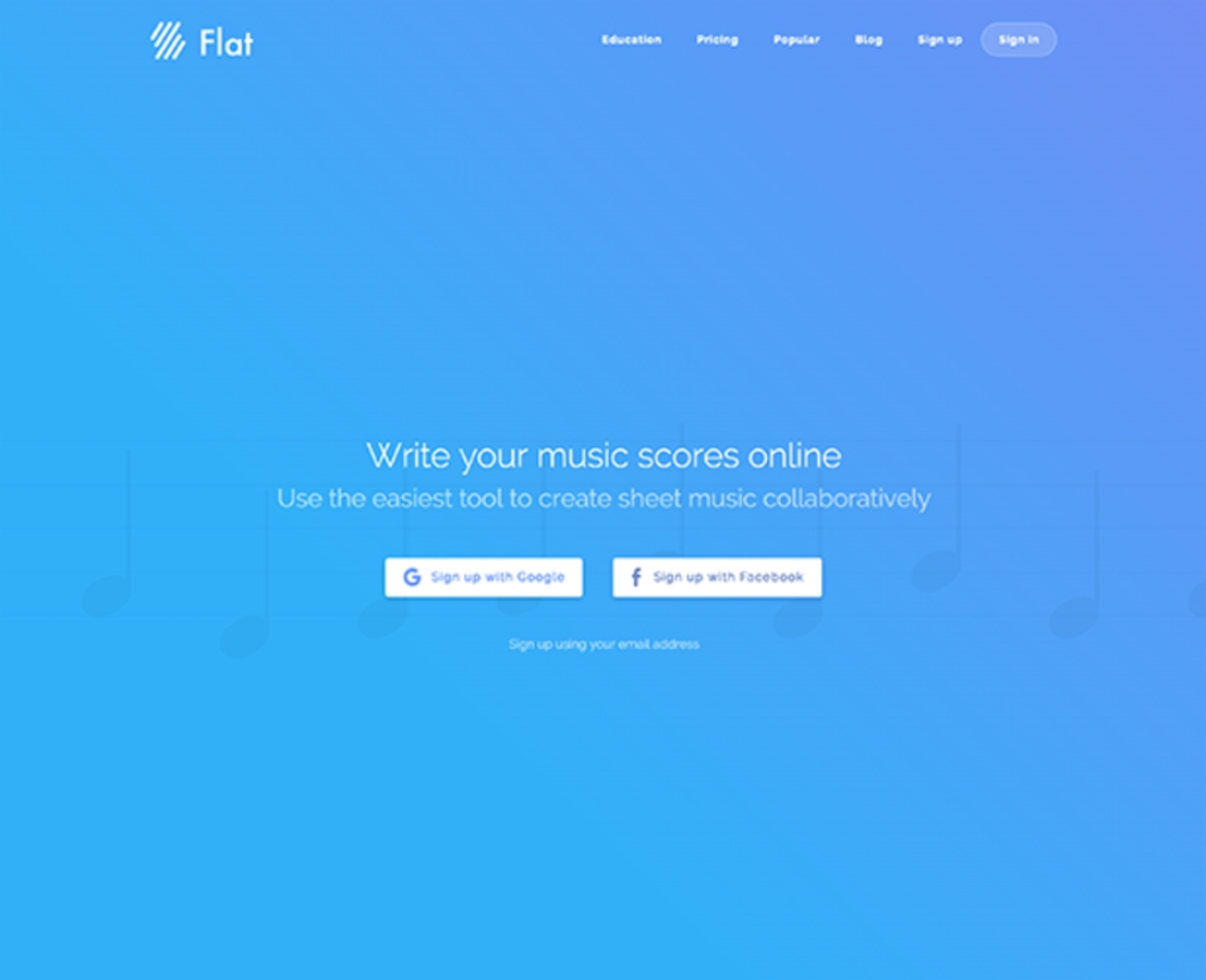 "Et billede som illustrerer ""flat"" design"