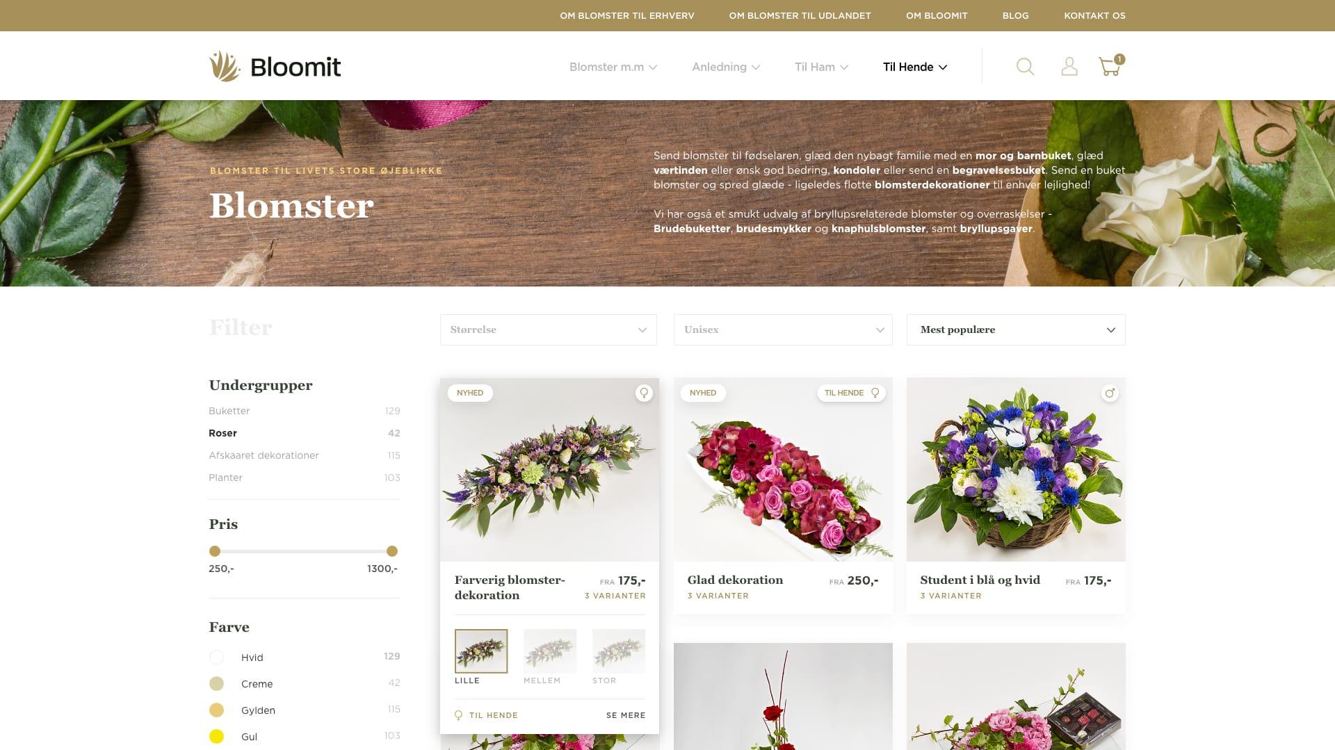 bloomit webshop eksempel