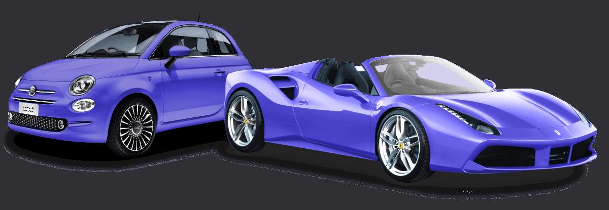 biler der symbolisere pris niveau