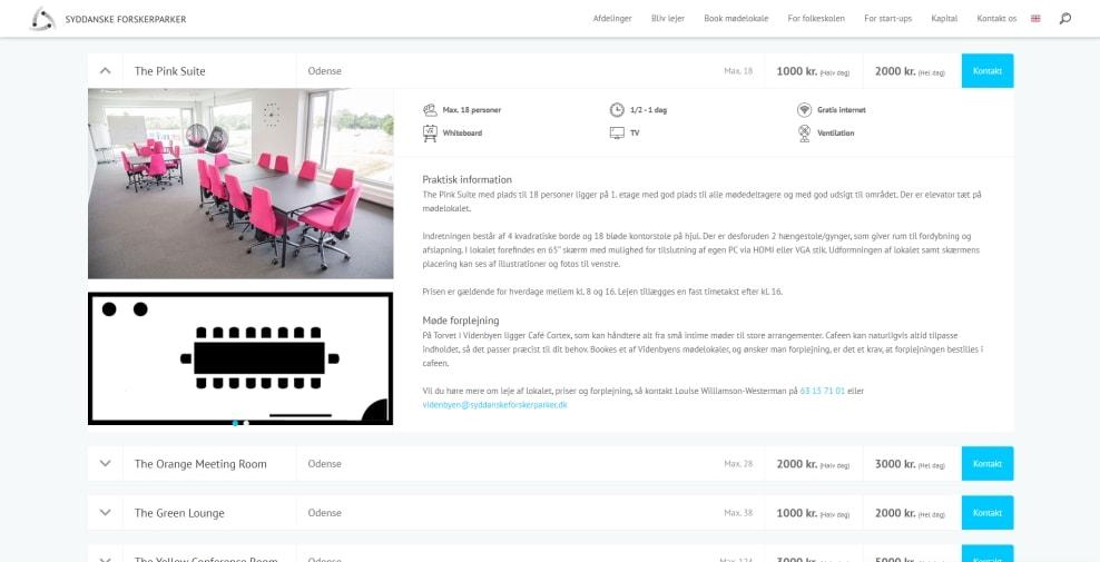 booking system der rummer dine ønsker