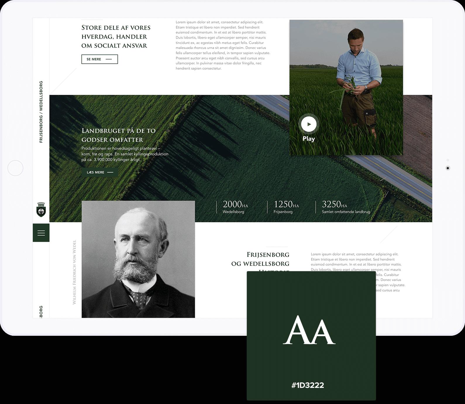 frijsborg og wedellsborg hjemmeside smuk