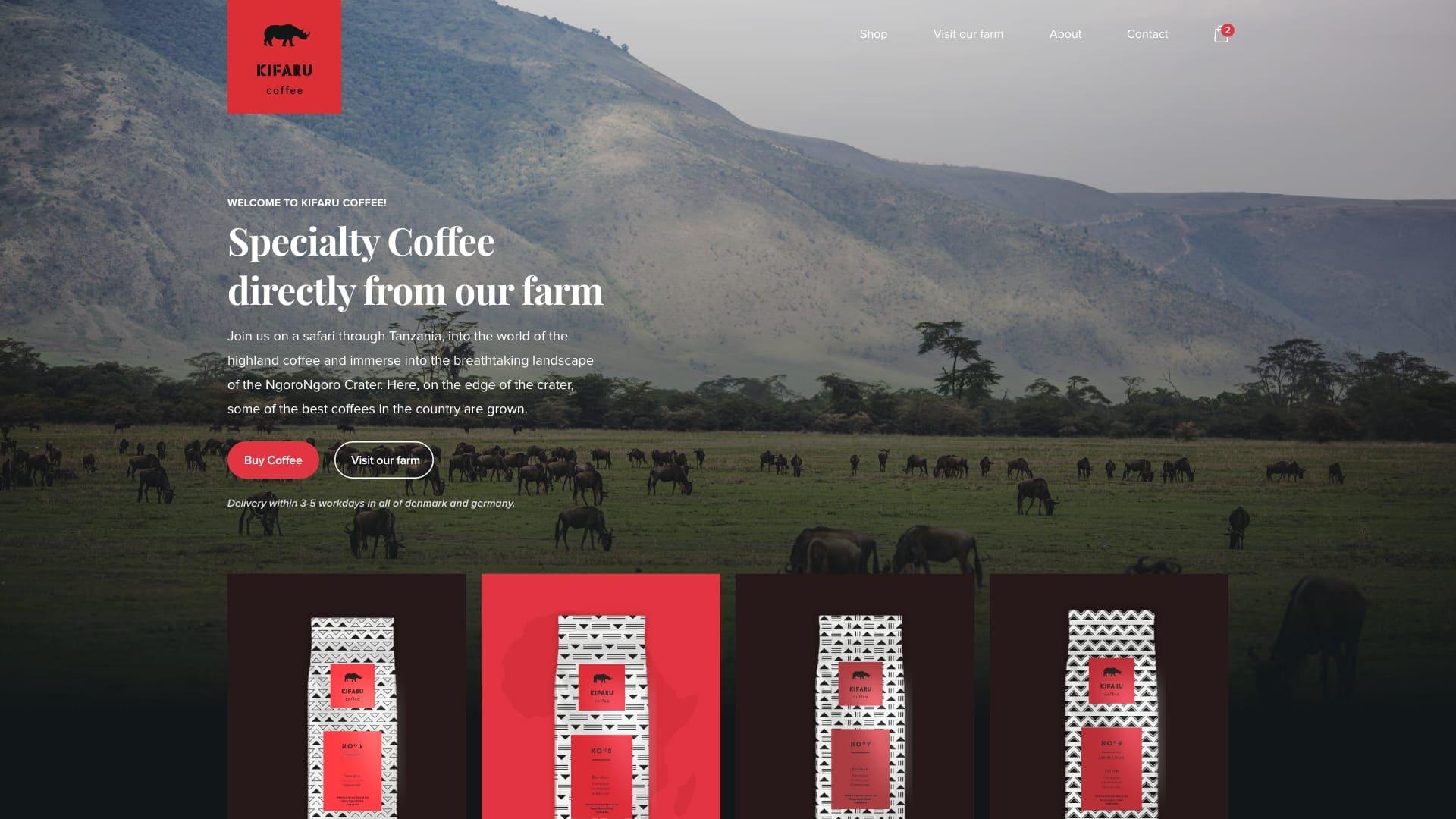 kifaru coffee hjemmeside