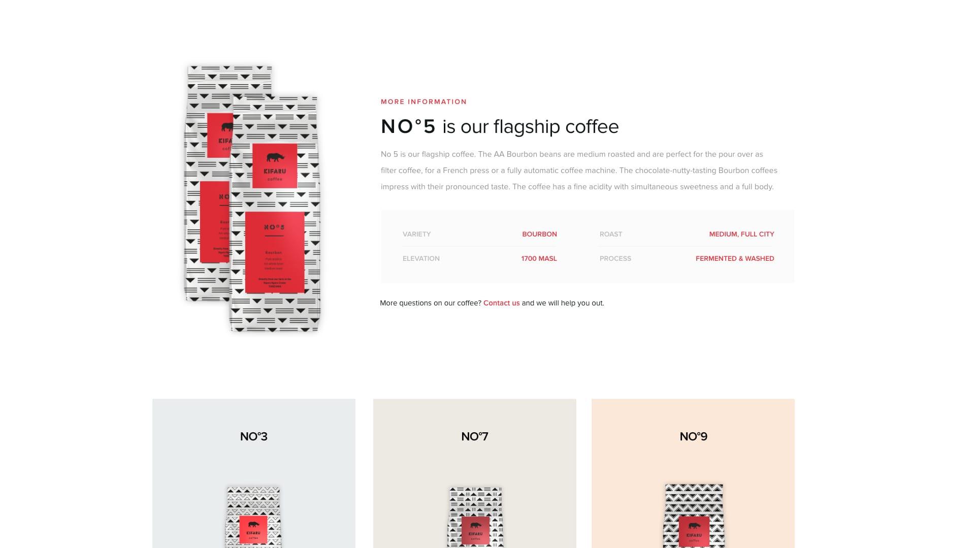 kifaru coffee produkt beskrivelse