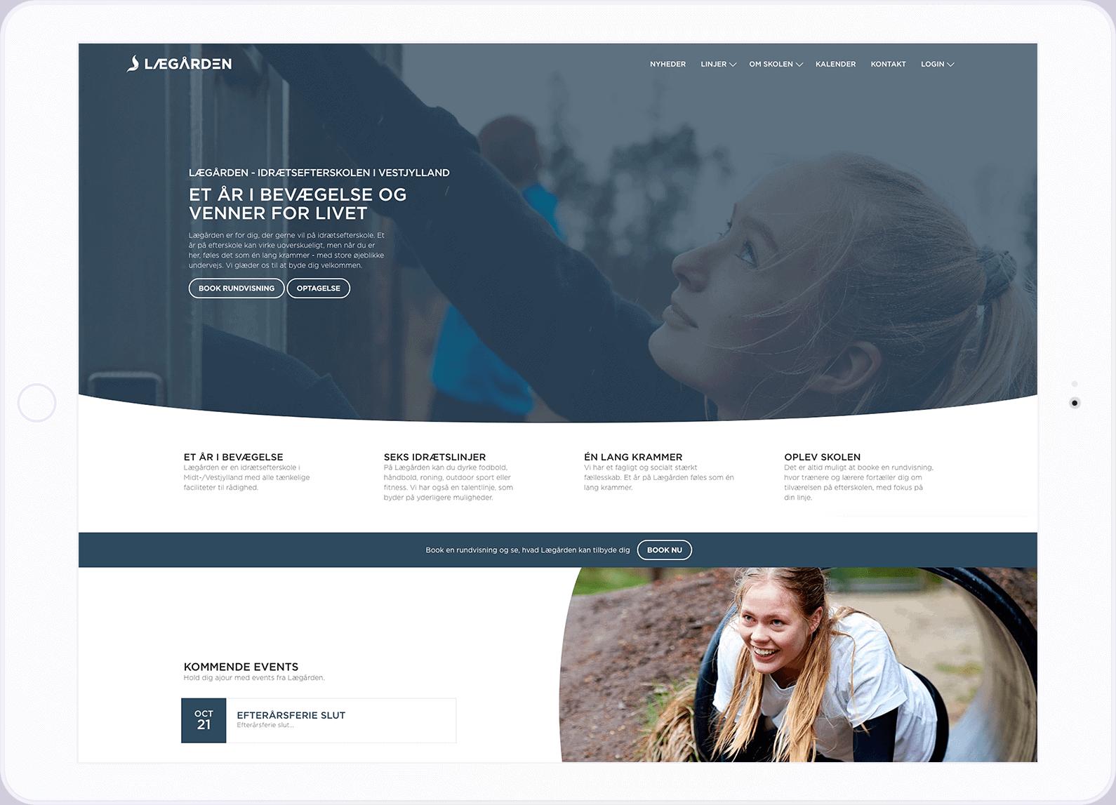 lægården hjemmeside eksempel