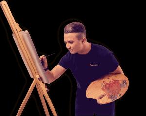 thomas arbejder på dit design