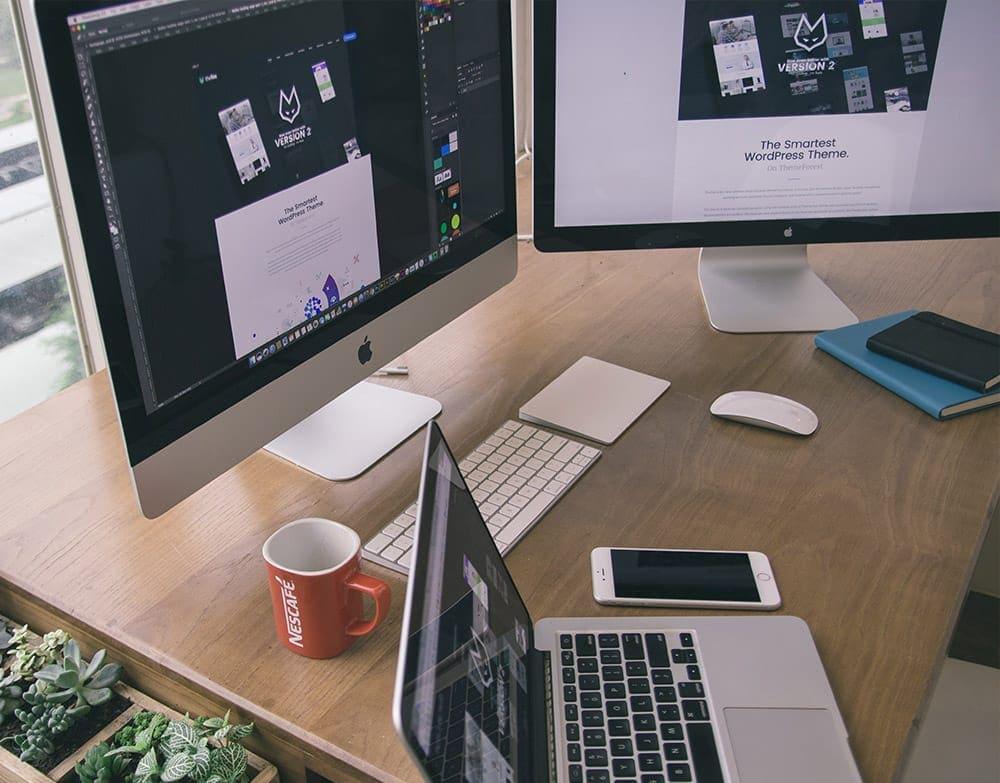frontend udvikler skrivebord