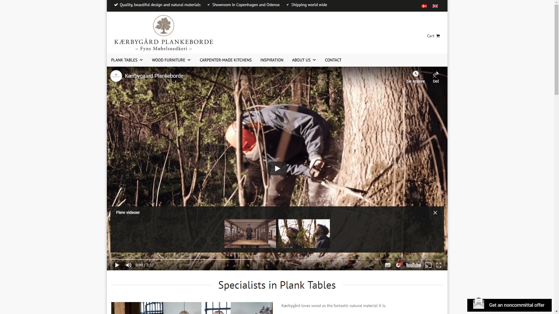 kærbygård video på hjemmeside