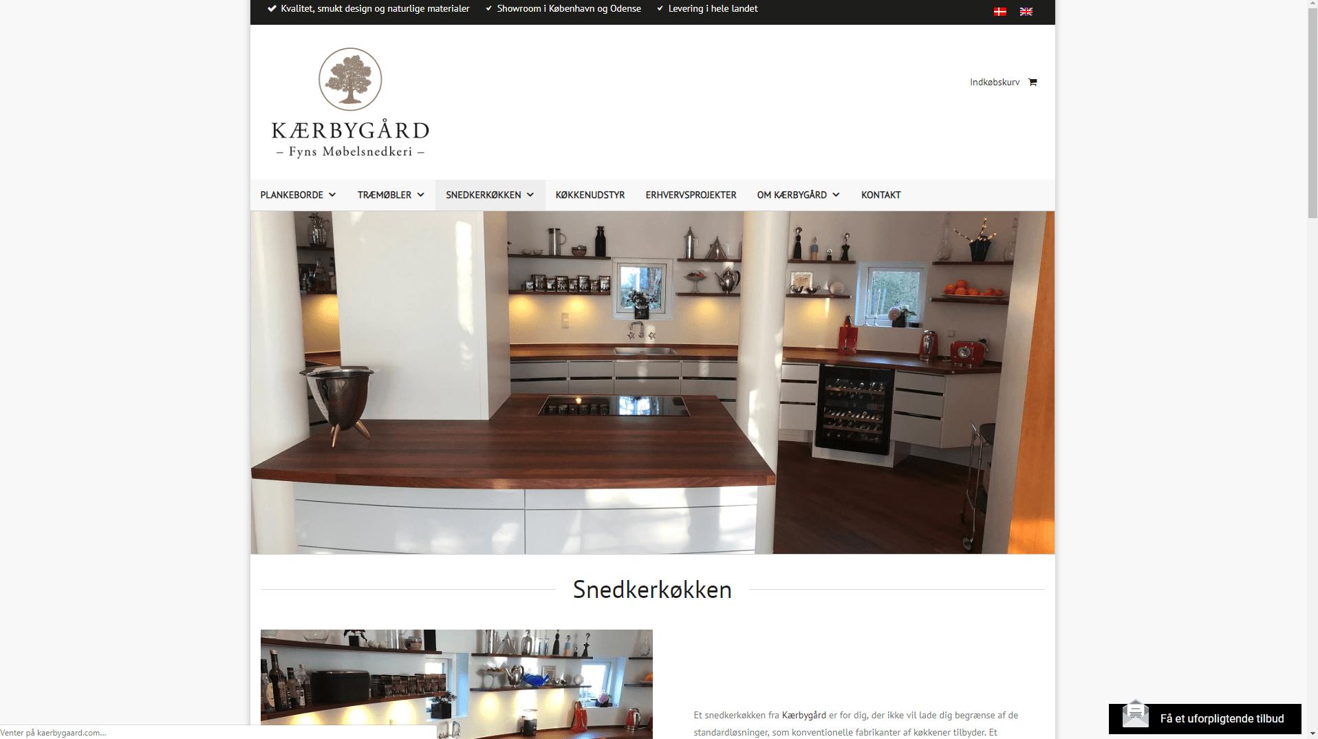 kærbygård website eksempel