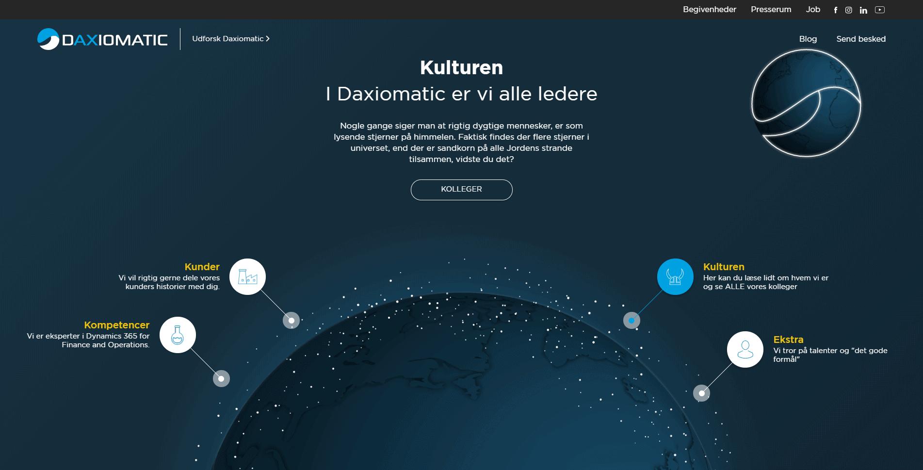 daxiomatic kultur design lækker website