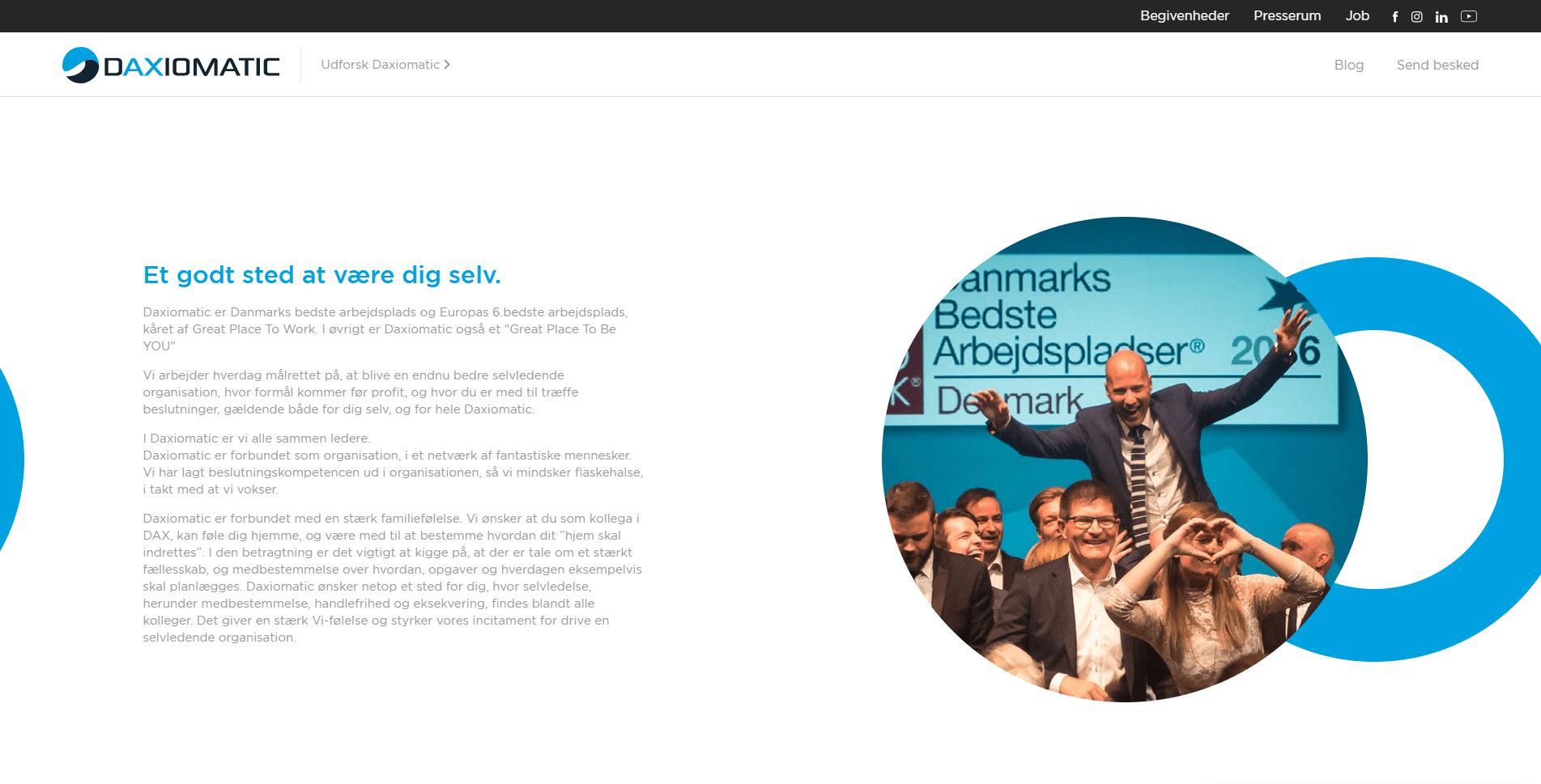daxiomatic kultur website page
