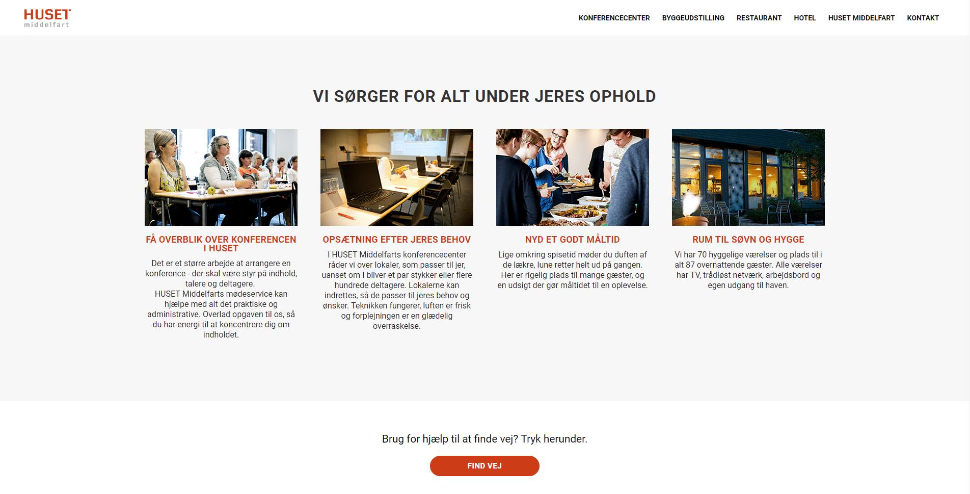 Huset middelfart website exemple
