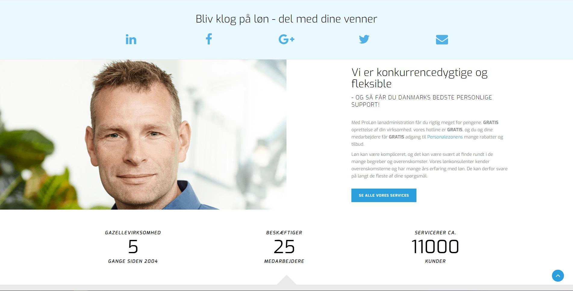 proløn website visitkort