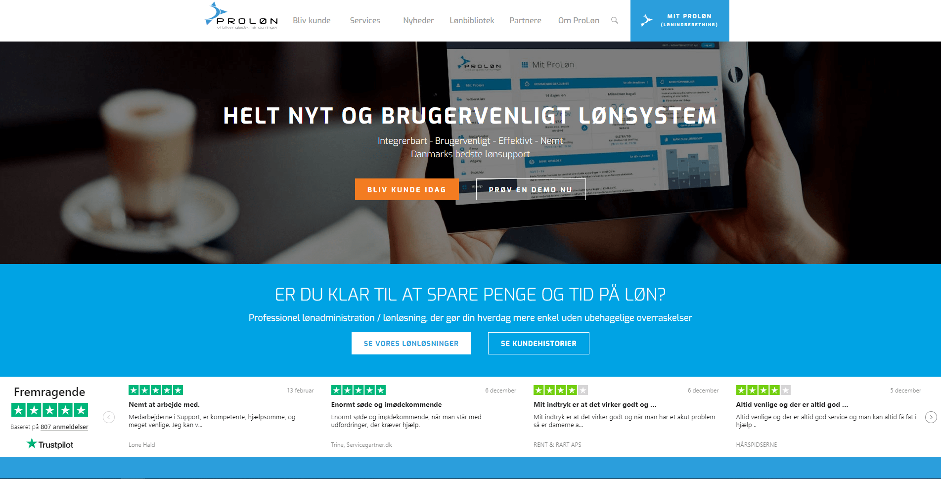 proløn website eksempel