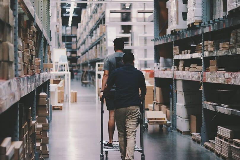 webshop med stort varelager er mere værd end én med lille varelager