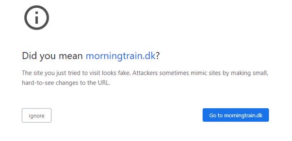 Eksempel af et URL uden www
