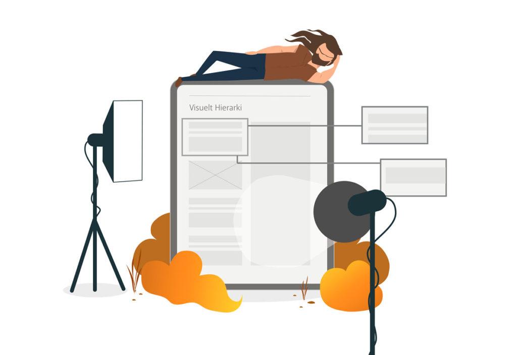 Hjælp dine læsere på vej med visuel hierarki