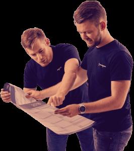 Karsten og Peter planner den næste kursus i Facebook annoncering
