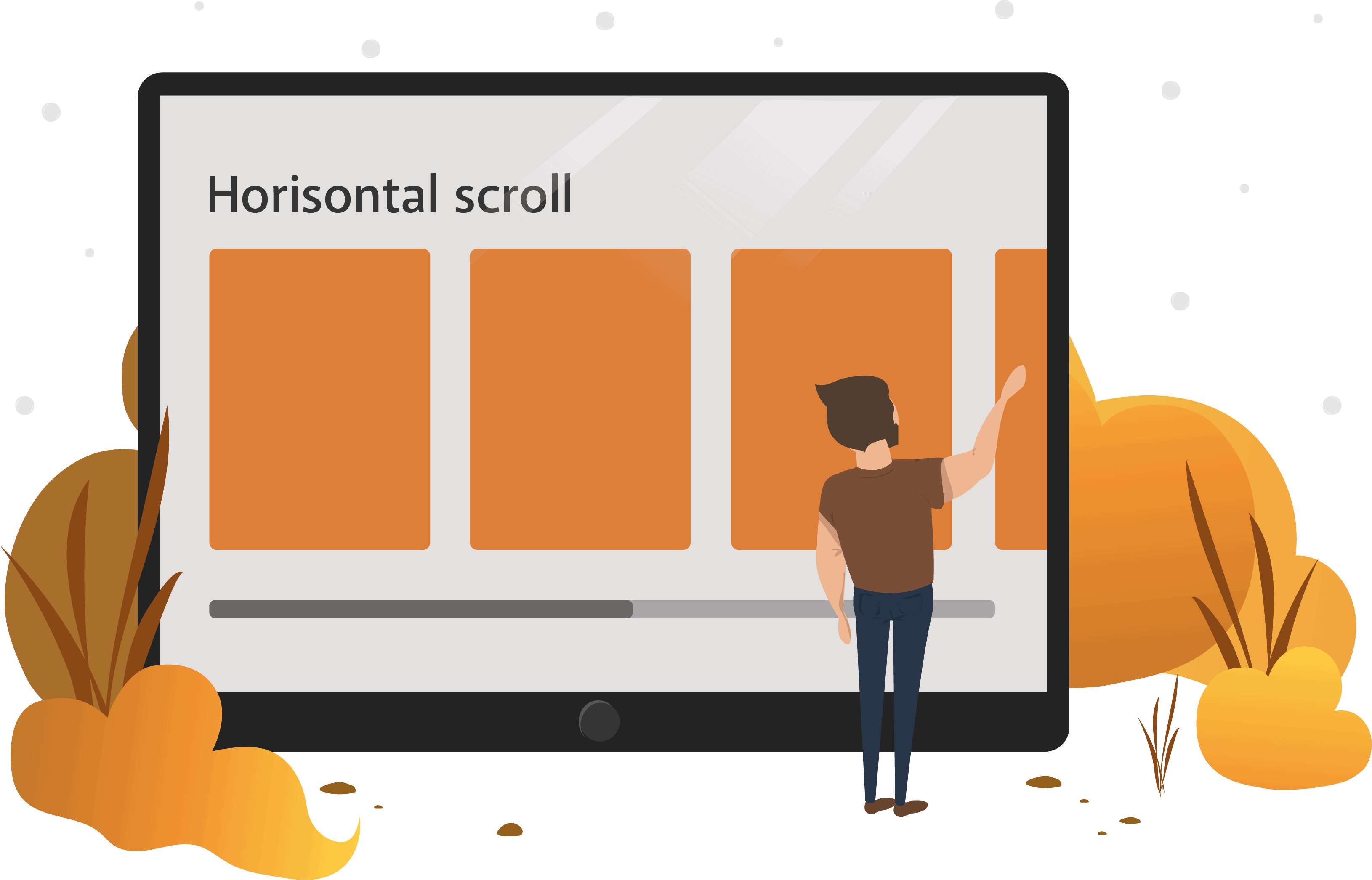 Hvorfor bruge horisontal scroll?